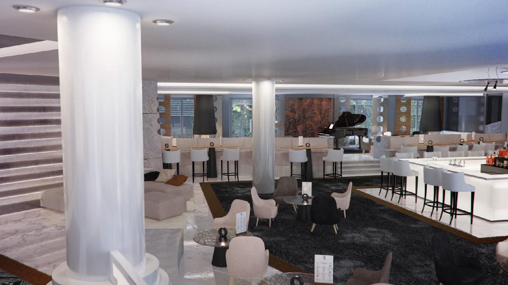 Restaurant avec Bar central au bord du lac d'Annecy