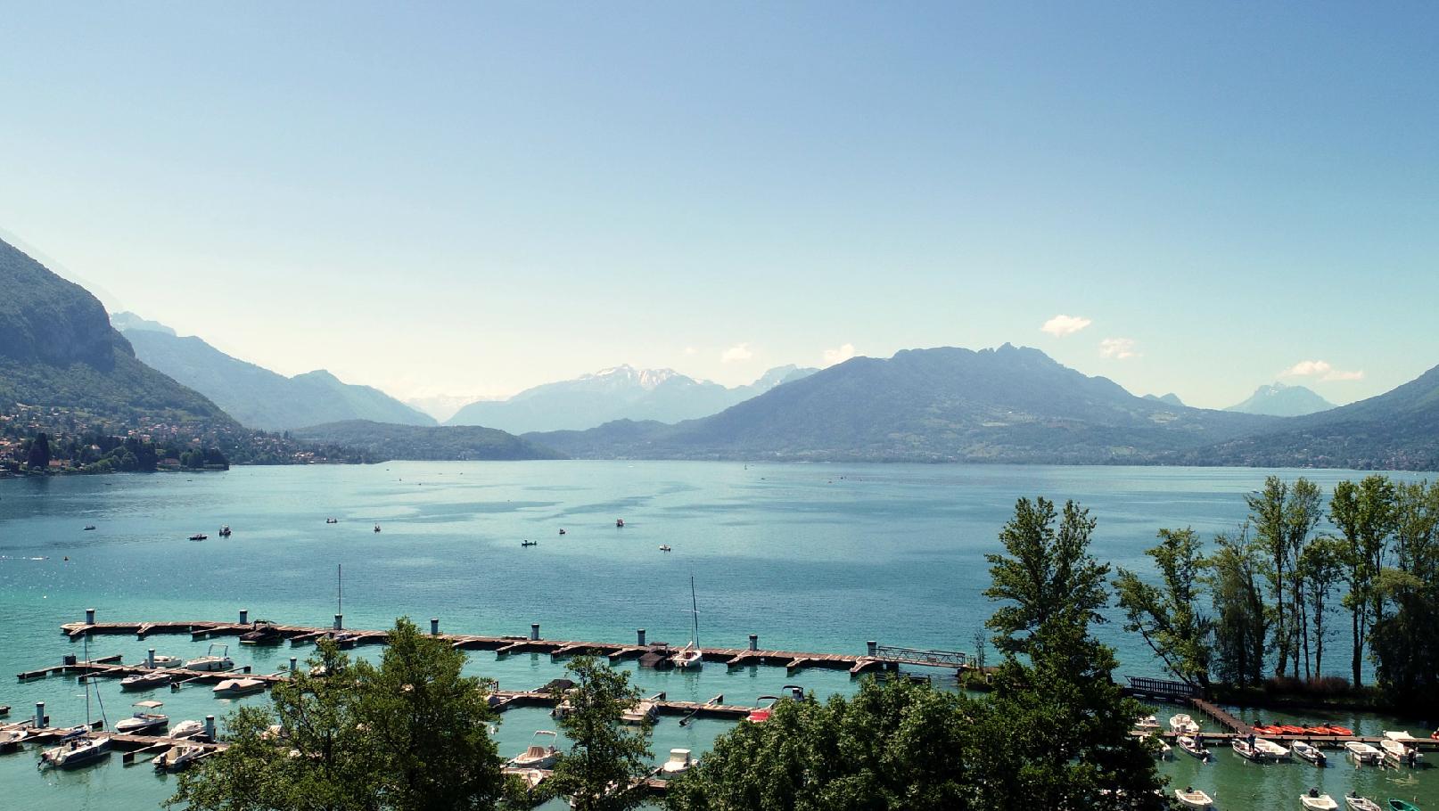 Vue lac de l'Hôtel Rivage Au Bord Du Lac d'Annecy