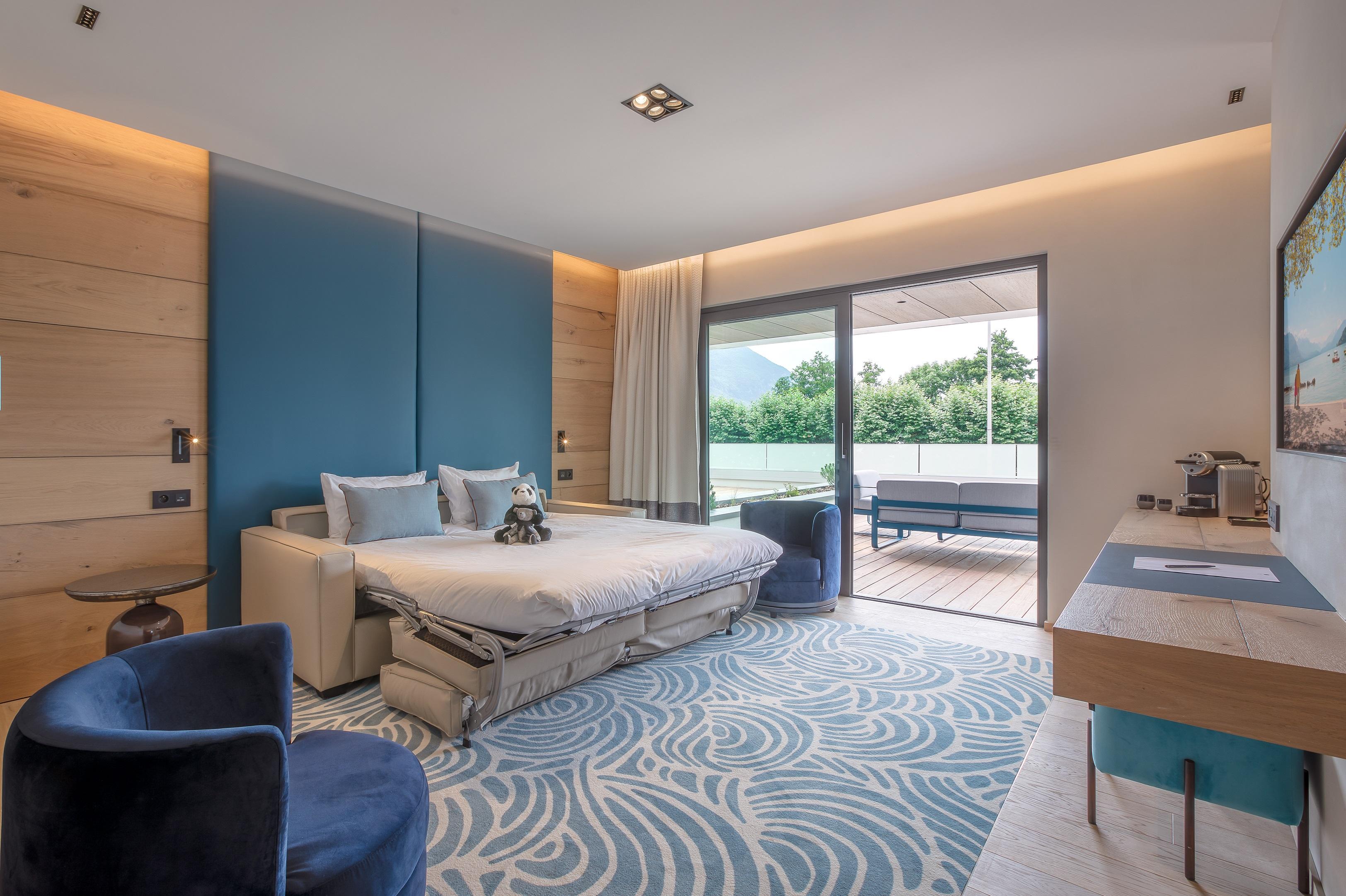 Suite Hôtel Rivage avec vue sur le lac d'Annecy
