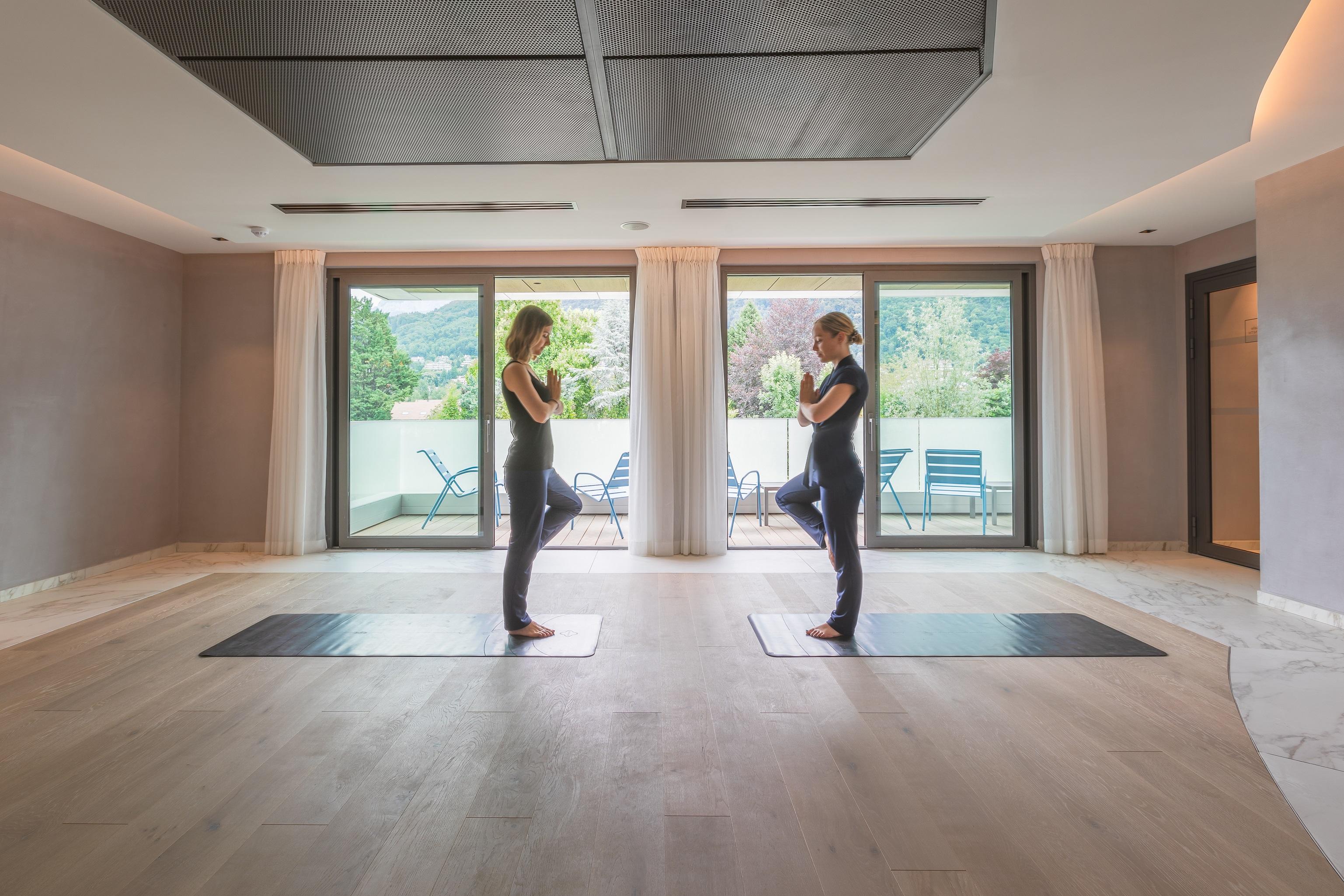 Salle de yoga au Rivage Hotel & Spa