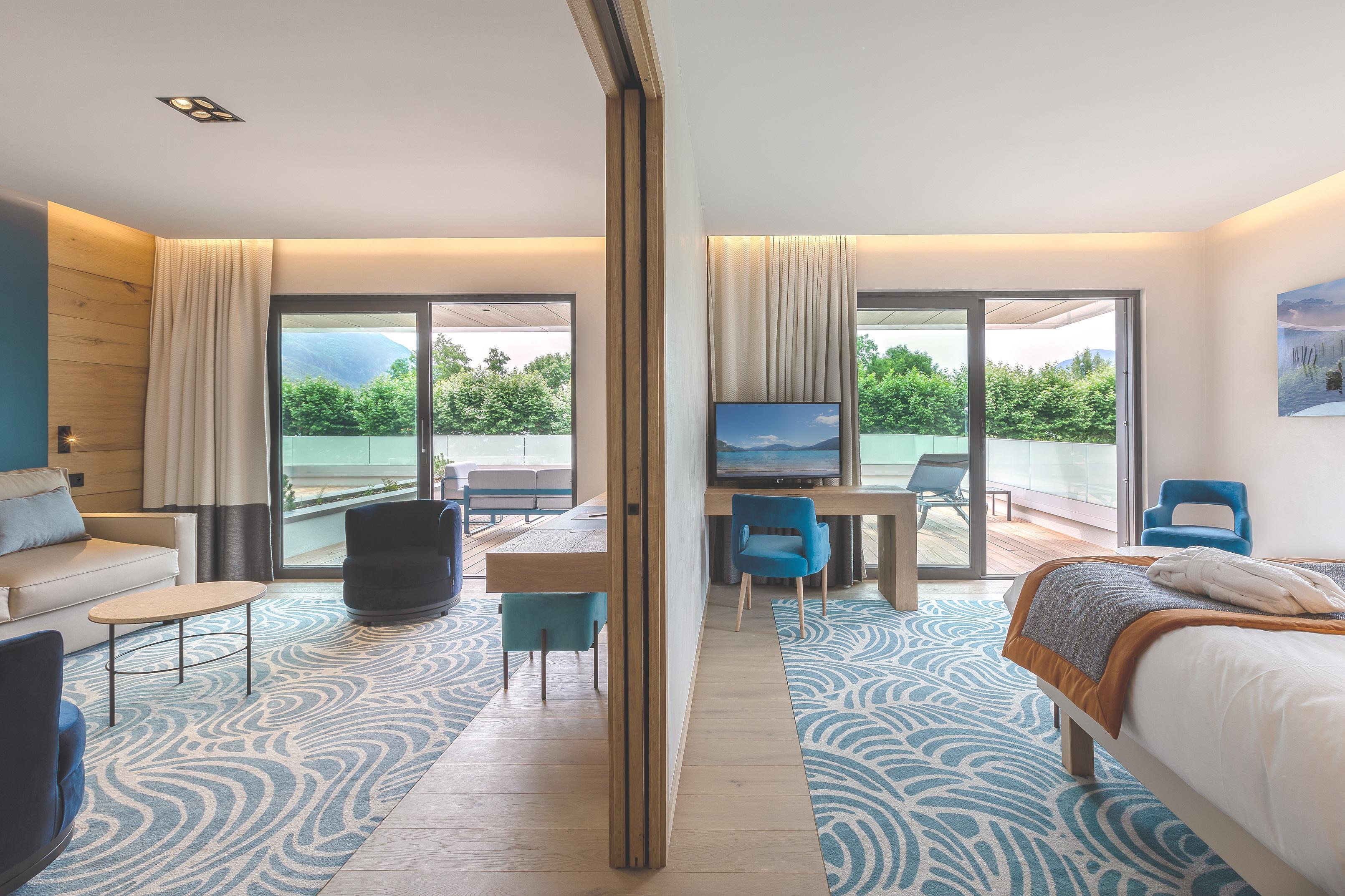 Suite Privilège Hôtel Rivage avec vue sur le lac d'Annecy