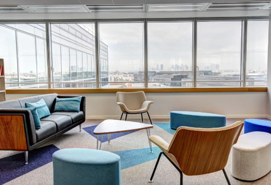 clean open office area