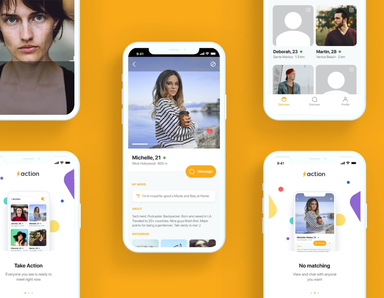 Dating App project showcase - Apex Labs is the web and mobile development company