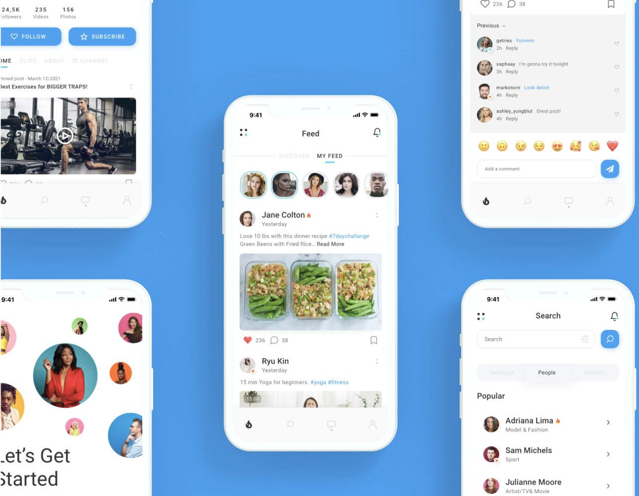 how to make social media app like instagram