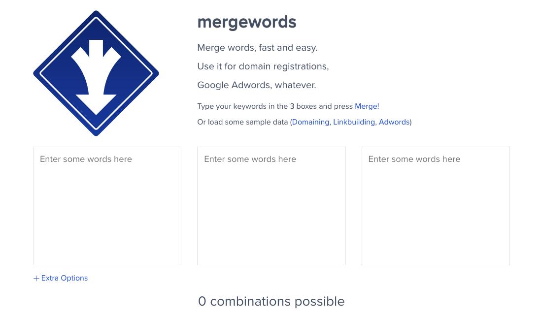 merge words mots clés google ads