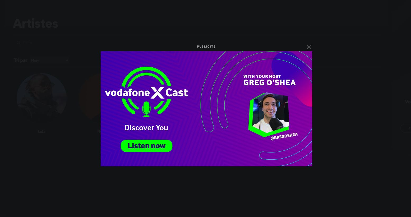 overlay ouverture spotify
