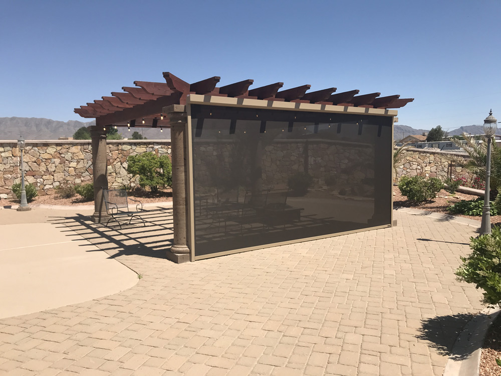 residential shade screens in El Paso
