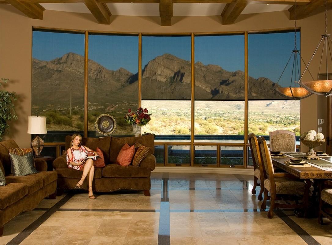 Interior retractable shades in El Paso Texas
