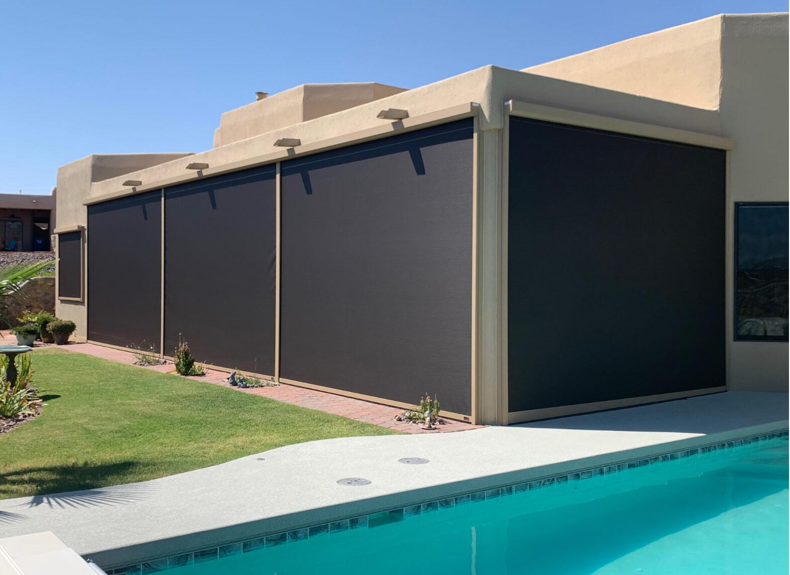 exterior shade screens - sun control solutions
