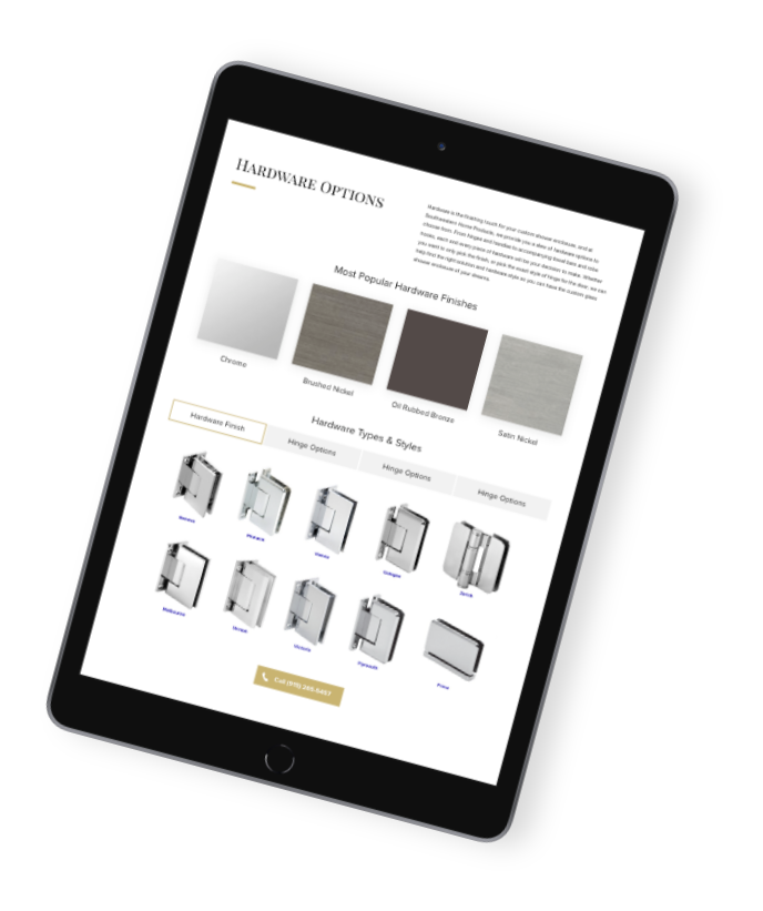 Customize your design during your free in-home consulltation Southwestern Home Products