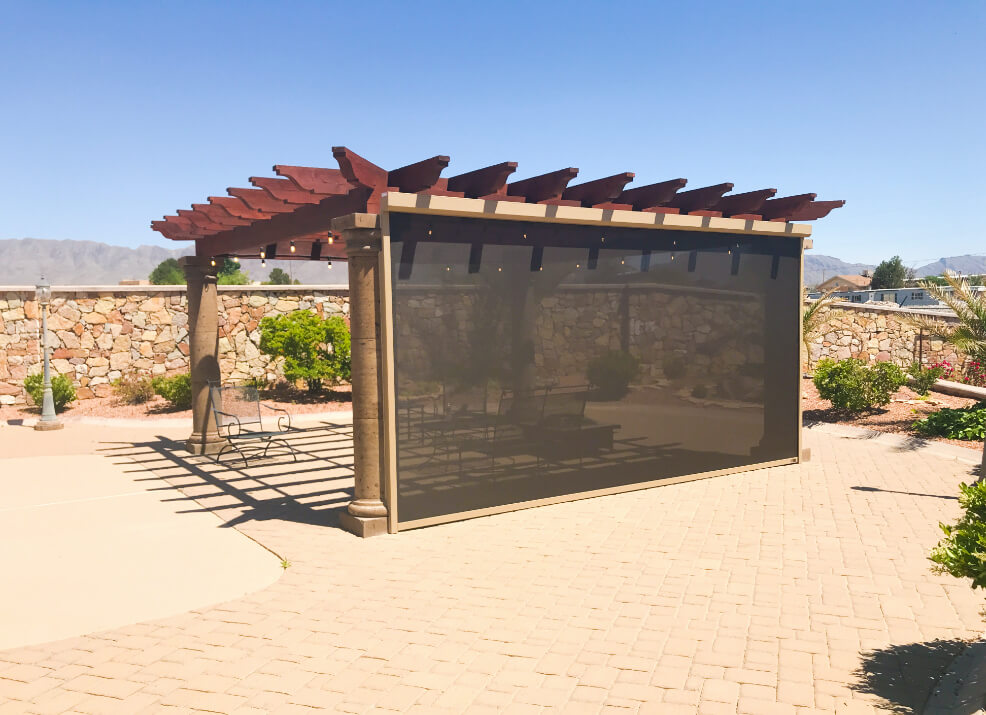 outdoor shade screens - southwestern home products