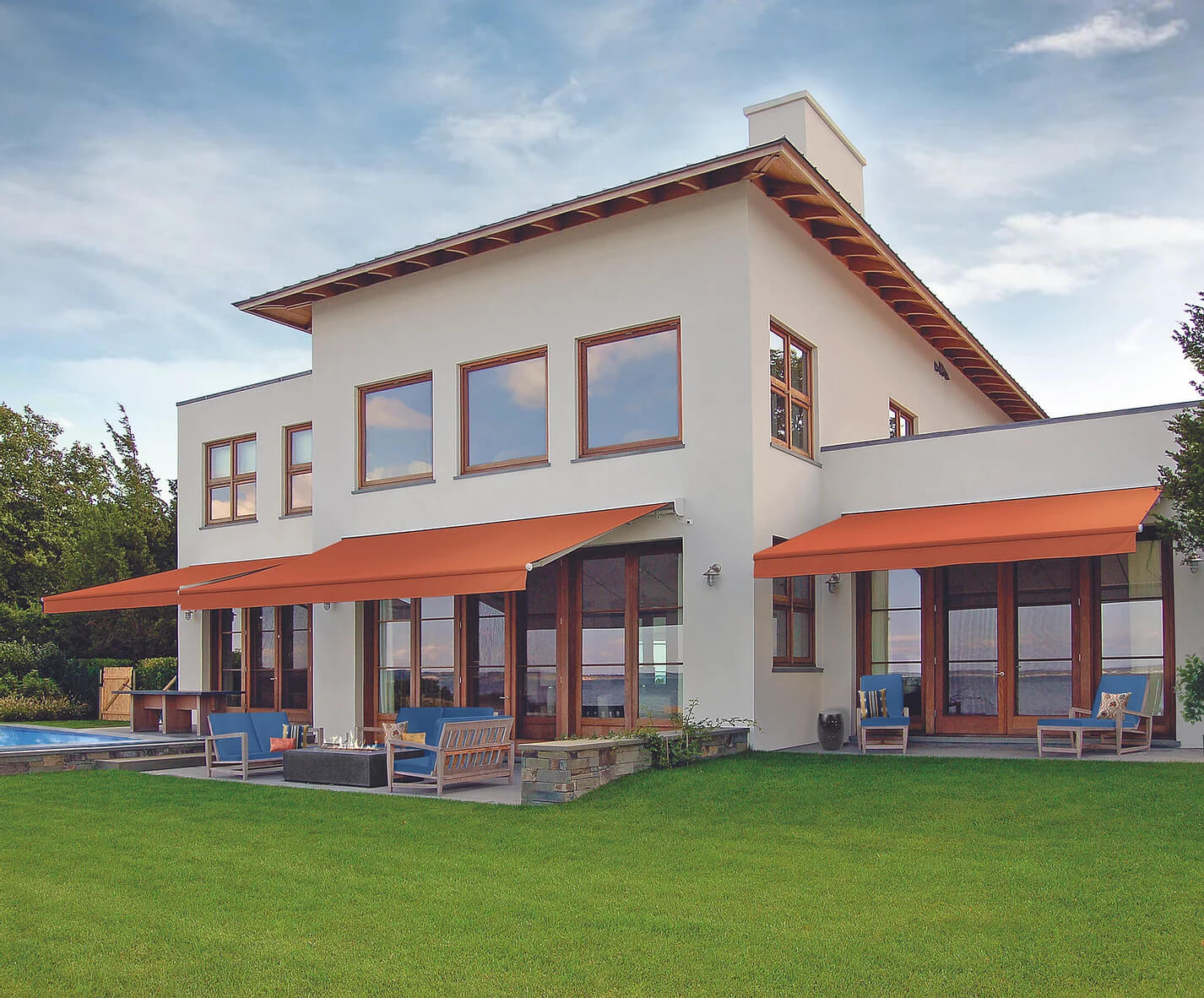 residential awning - sun control solutions - southwestern home products