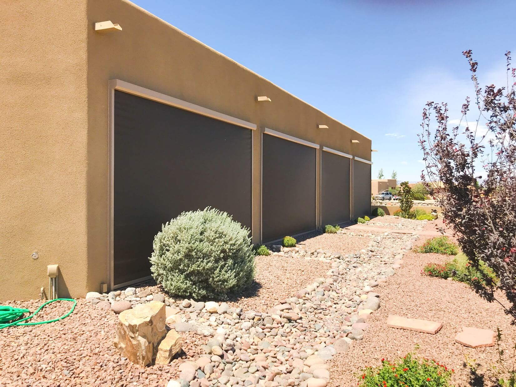 El Paso Texas residential retractable shade screens by Southwestern Home Products