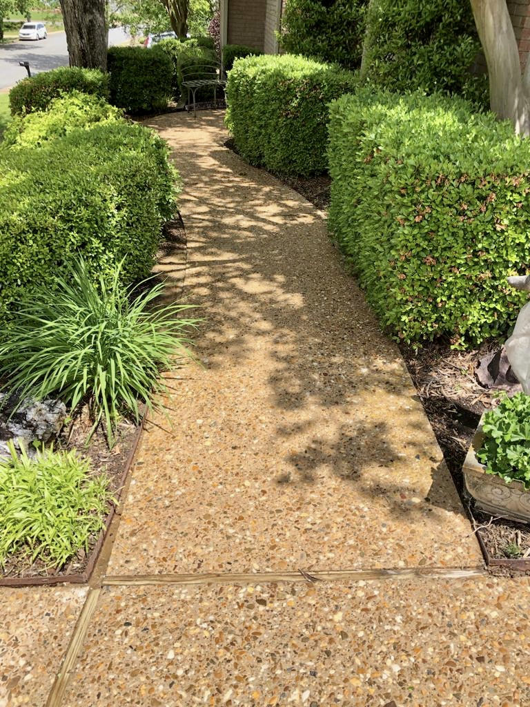 Clean state after a pressure washing.