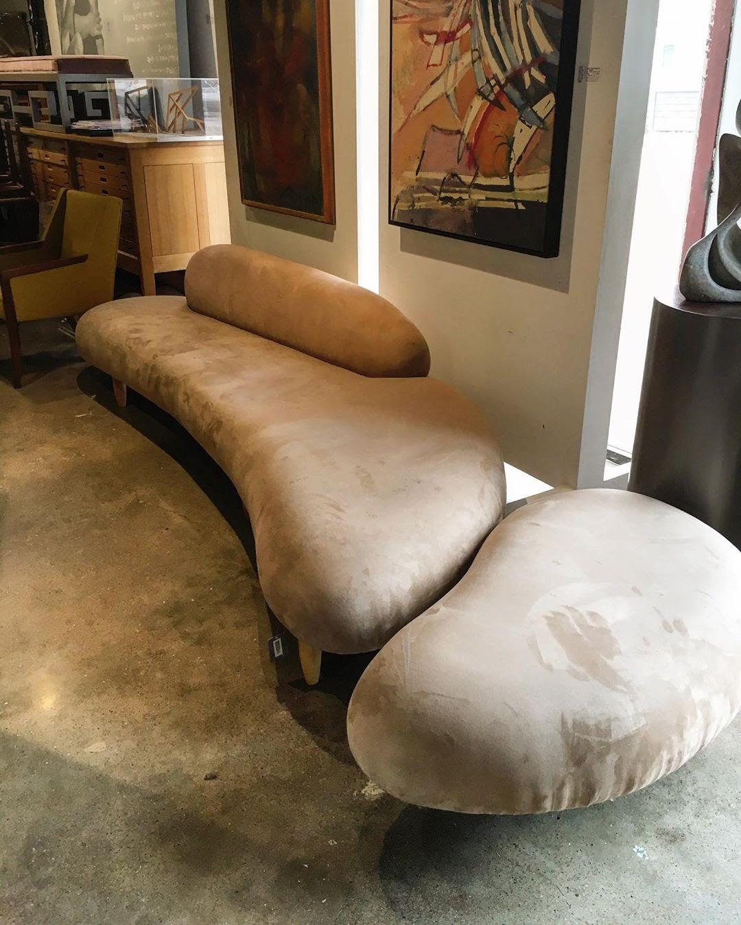 noguchi's beige cloud sofa