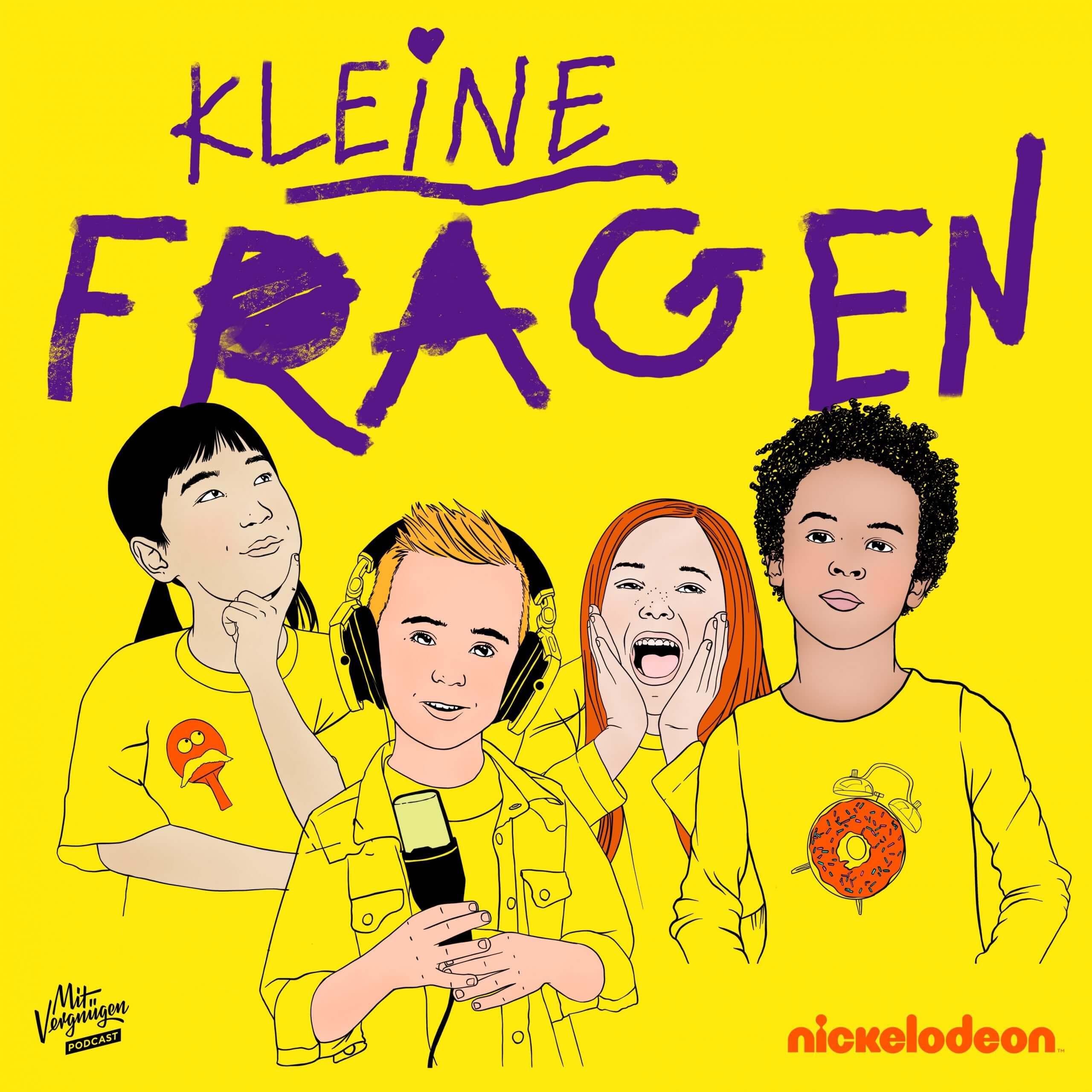 """Nickelodeon und Mit Vergnügen starten die neue Staffel des Podcasts """"Kleine Fragen""""."""