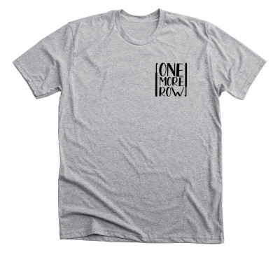 One More Row Pink Sheep Design Merch, a heather grey Unisex Tee