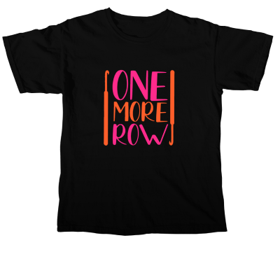 One More Row Brights Pink Sheep Design merch, a black Comfort Colors Unisex Tee