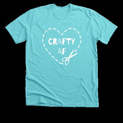 Crafty AF Pink Sheep Design Merch, a Tahiti Blue Unisex Tee