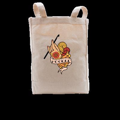Hooked Pink Sheep Design Merch, a natural Premium Tote Bag