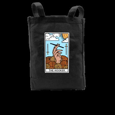 The Hooker Tarot Pink Sheep Design Merch, a black Premium Tote Bag