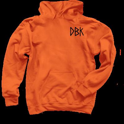 Death Before Knitting Pink Sheep Design Merch, a Orange Pullover Hoodie