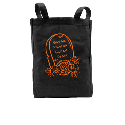 Give me Yarn or Give me Death Pink Sheep Design Merch, a black Premium Tote Bag
