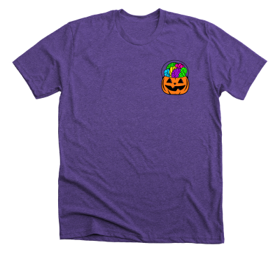 Orange Forget the Candy Pink Sheep Design Merch, a purple Premium Unisex Tee