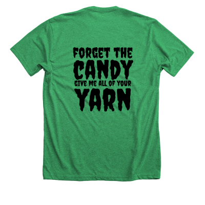 Purple Forget the Candy Pink Sheep Design Merch, a kelly green Premium Unisex Tee
