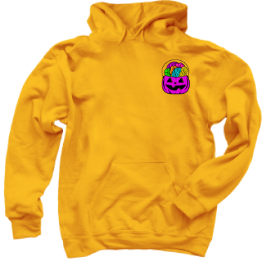 Purple Forget the Candy Pink Sheep Design Merch, a Gold Pullover Hoodie