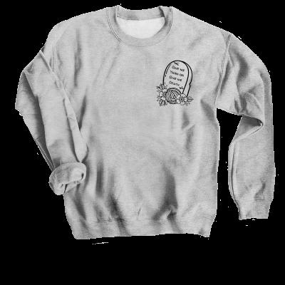 Give me Yarn or Give me Death Pink Sheep Design Merch, a sport grey Crewneck Sweatshirt