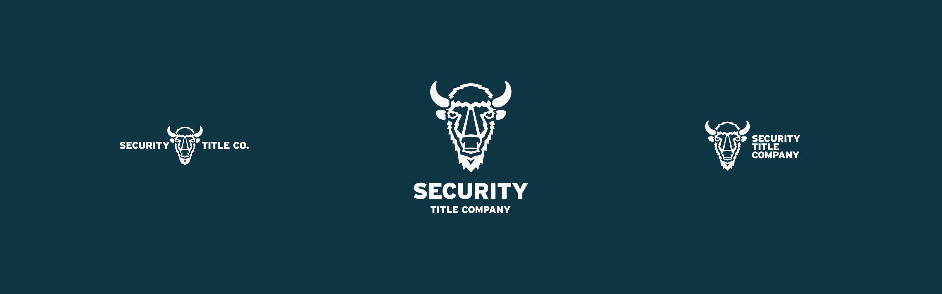 three versions of the Security Title Co logo side-by-side