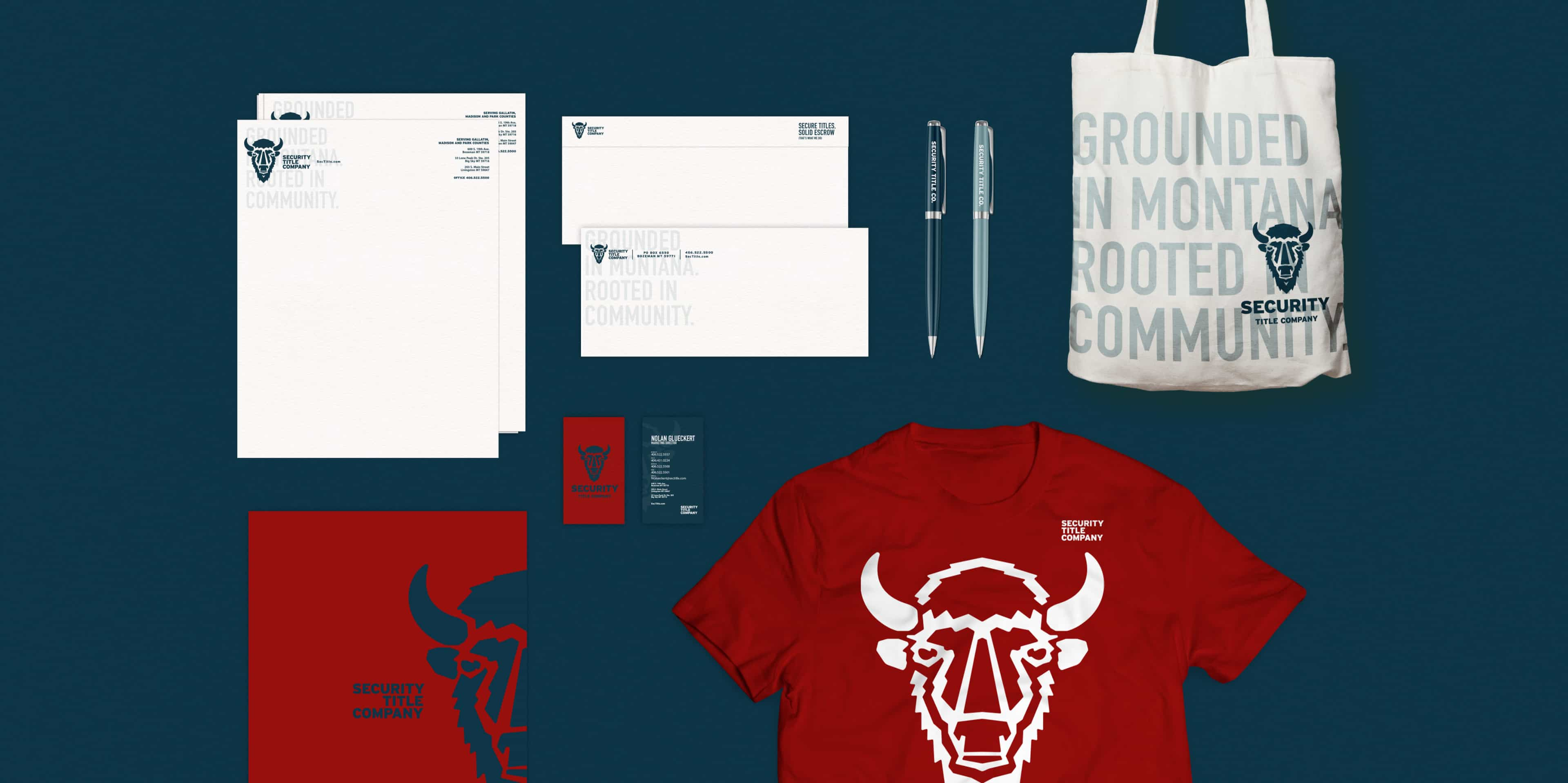 Security Title Co merchandise and business set design