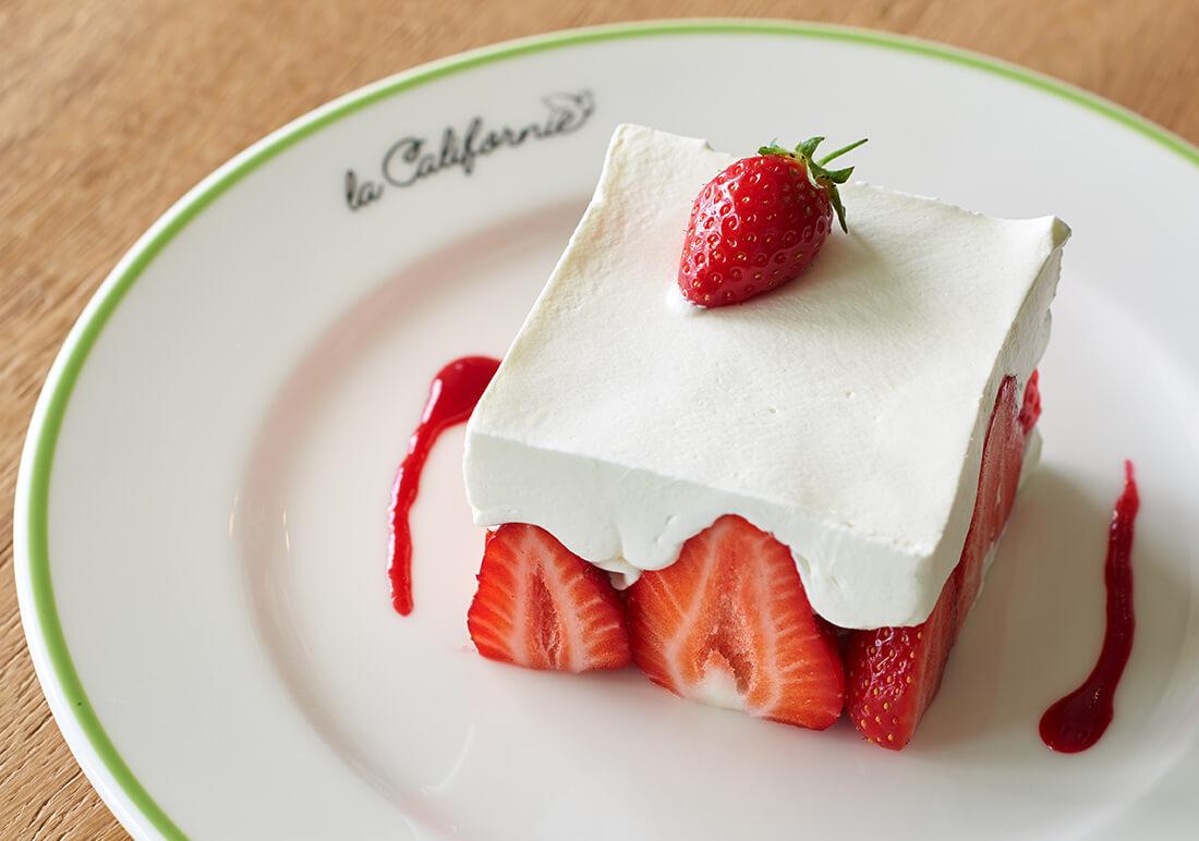 """Dessert à la fraises du restaurent """"la Californie canne"""""""