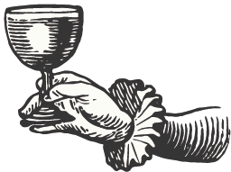 illustration of female hand holding wine cup