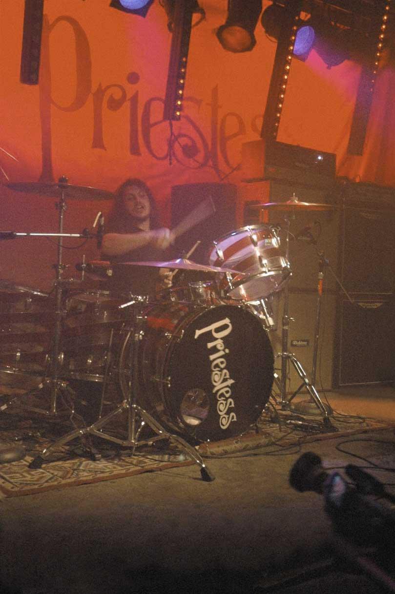 Drummer Vince Nudo in concert