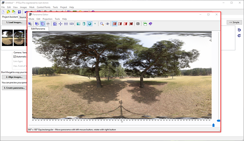 You can see a stitched 360º photo at the end of the process. Check if there are any stitching errors.