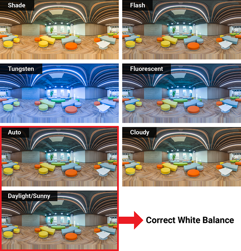 Camera Setting for real estate 3D virtual tour—How to set White Balance