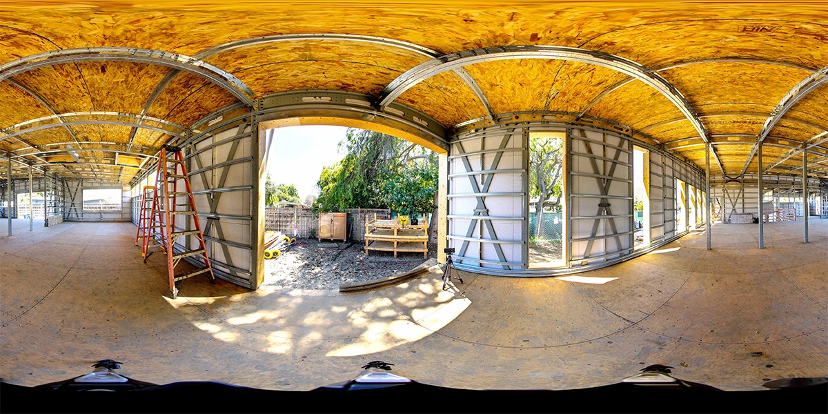 Stitched 360 panoramic photo for construction architecture engineering