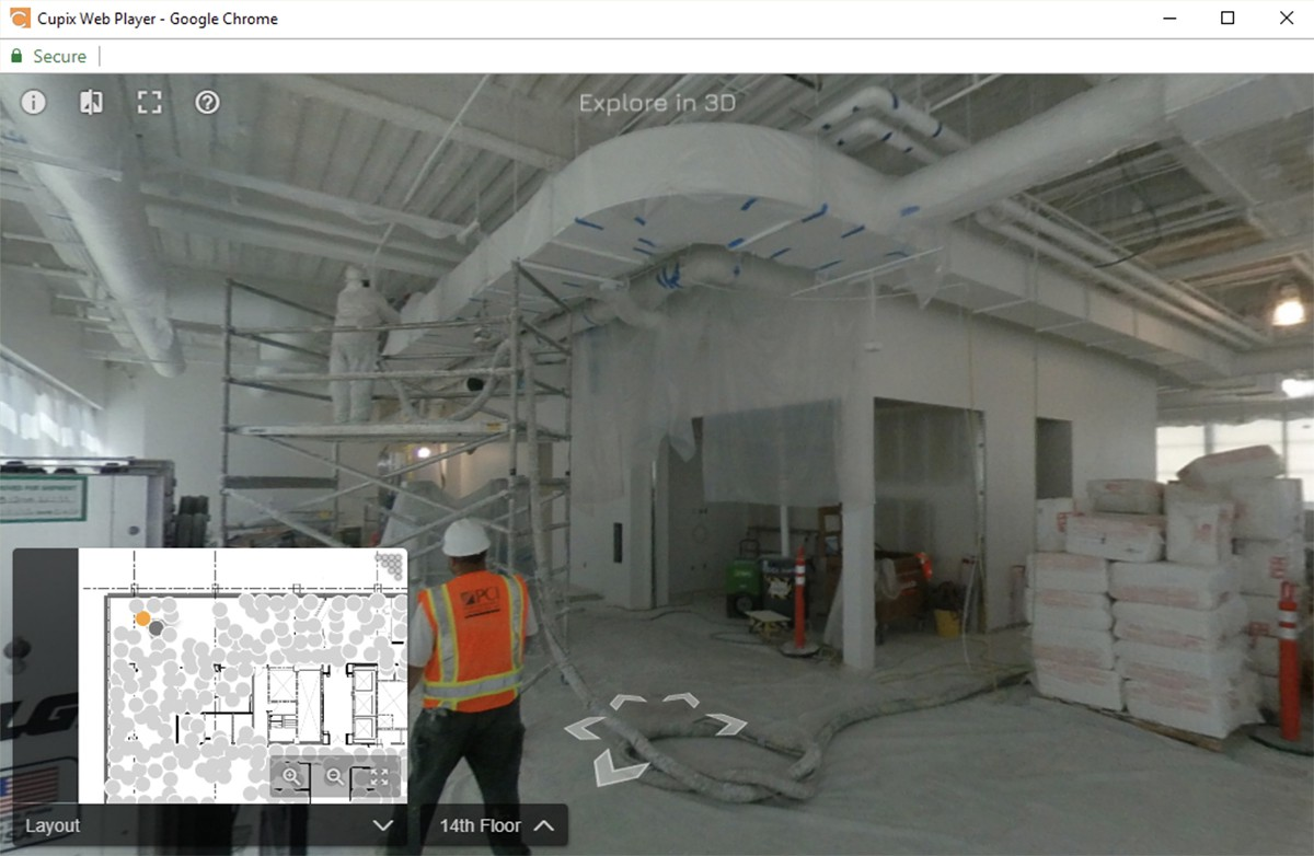 Explore your construction in 3D Google Street View in construction sites
