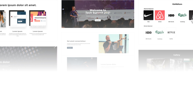 Event website design examples