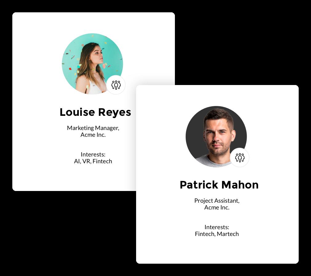 Attendee profiles