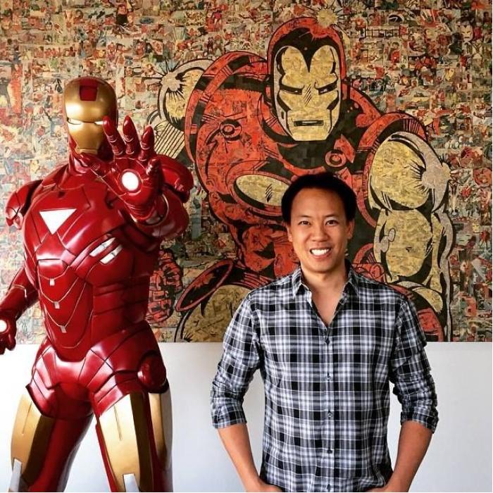 Jim Kwik and Iron Man