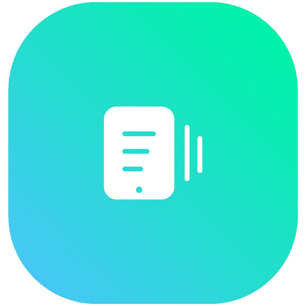 blue system analysis icon