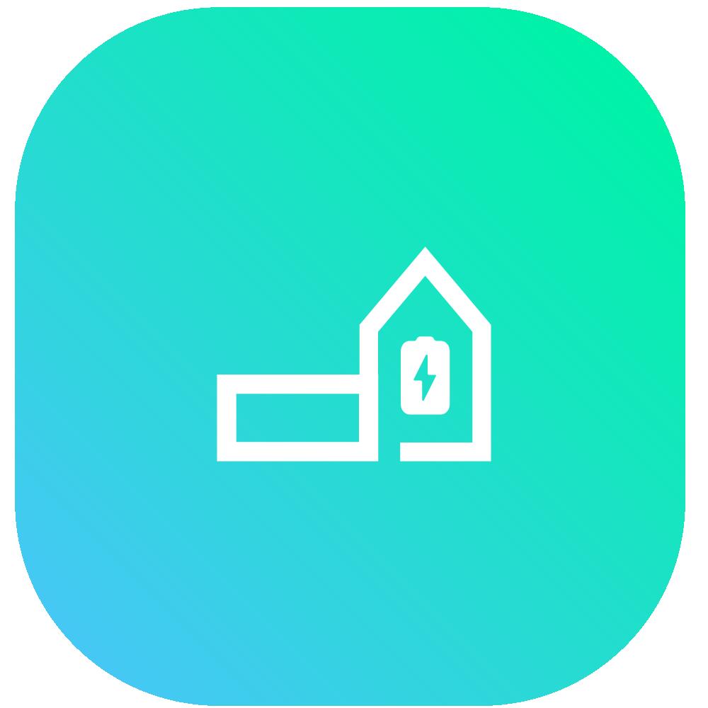 Blue facility icon