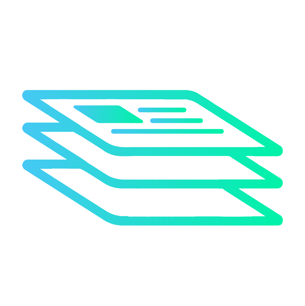 Blue platform information icon