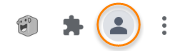 """Highlighting the """"Profile"""" icon on Chrome's toolbar"""