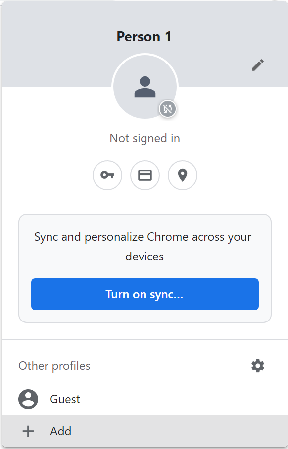 A screenshot of the user interface for adding a new user profile in Chrome