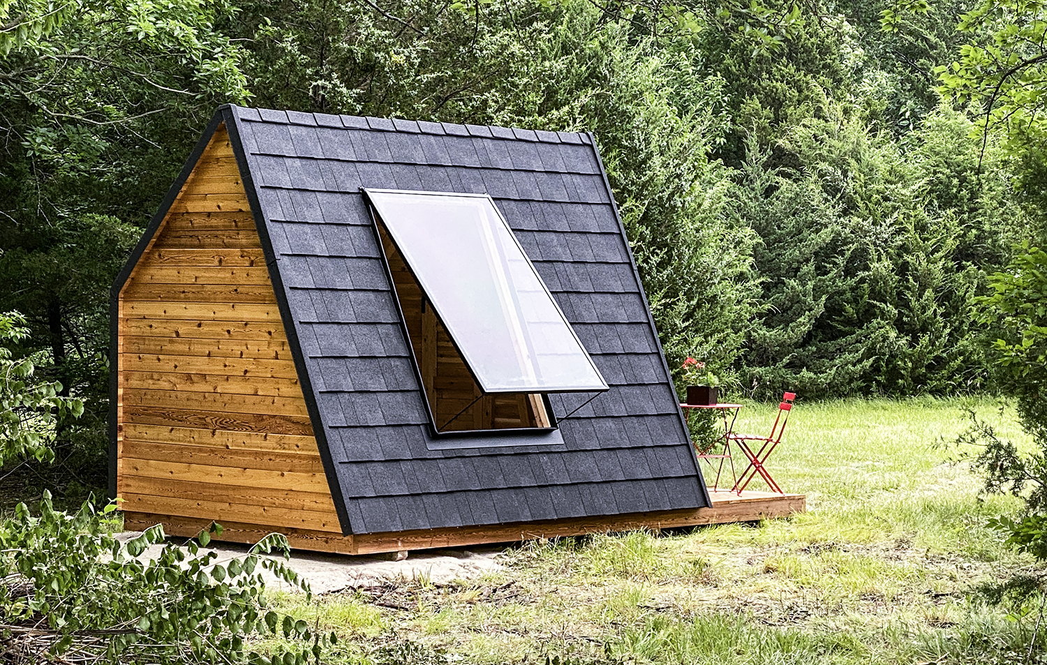 Coming soon: Looking for a happy medium between a cabin and a tent? Our A-frames are made just for you!