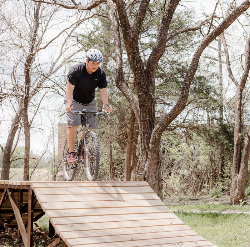 Shred-it on our unique bike skills course. All ages and skills welcome. We have jumps and bumps, rocks and drops, berms and bridges, tunnels and towers.